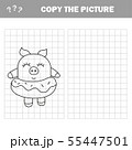 Funny pig. Complete the picture children drawing game 55447501