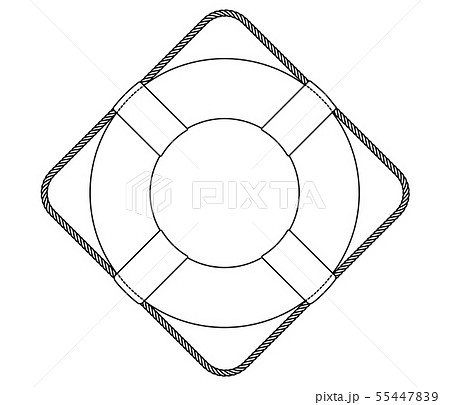 vector flat outline lifebuoy, life buoy icon 55447839