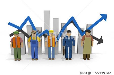 働く人々 雇用統計 労働人口 55449182