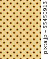 レトロなひまわりのイラストの背景素材 55450913