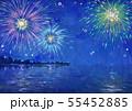 花火大会の風景イラスト 55452885