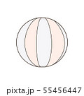 Beach ball isolated on a white background 55456447