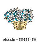 Basket with flowers isolated on white background 55456450