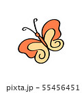 Colorful Butterfly logo isolated, Beautiful 55456451