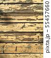 ペンキが剥がれた木の素材 55457660