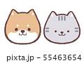アイコンイヌネコ 55463654