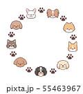 犬たちフレーム円 55463967