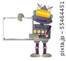 ホワイトボードを持つロボット 55464451
