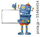 ホワイトボードを持つロボット 55464454
