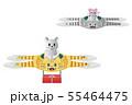 トラ猫ドローン2機とネズミくん プレゼント 55464475