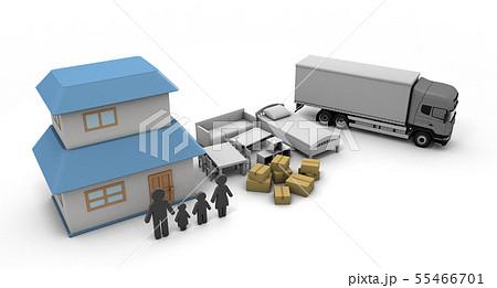 引っ越し 新しい住まい生活 家購入 55466701
