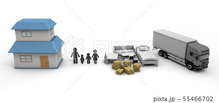 引っ越し 新しい住まい生活 家購入 55466702