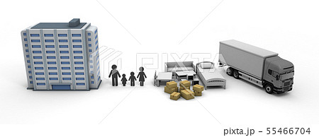 引っ越し 新しい住まい生活 マンション購入 55466704
