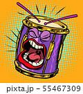Emoji character emotion drum musical instrument 55467309