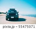千里浜なぎさドライブウェイを走る車 55475071