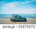 千里浜なぎさドライブウェイを走る車 55475072