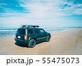 千里浜なぎさドライブウェイを走る車 55475073
