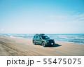 千里浜なぎさドライブウェイを走る車 55475075