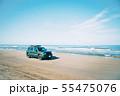 千里浜なぎさドライブウェイを走る車 55475076