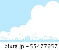 テーマパーク 青空 雲 55477657