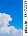 夏の清々しい青空 55478336