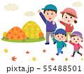 家族 秋の山 ハイキング イラスト01 55488501