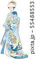色打掛姿の女性のベクターイラスト 55488553