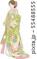 色打掛姿の女性のベクターイラスト 55488555