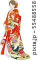 色打掛姿の女性のベクターイラスト 55488558