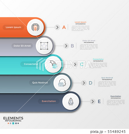 Modern Infographic Template 55489245
