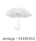 Vector 3d Realistic Render White Blank Umbrella Icon Closeup Isolated on White Background. Design 55492952