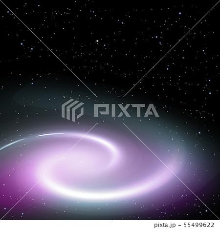 星雲 星座 銀河 銀河系 宇宙 渦巻星雲 星空 星のイラスト素材 ...