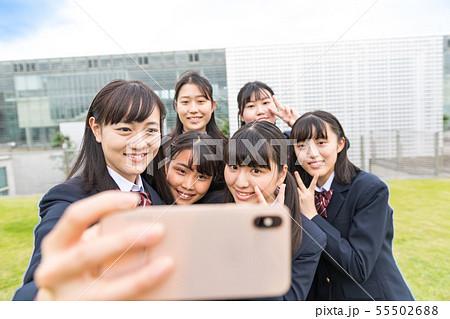 女子高生、自撮り 55502688