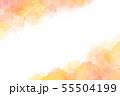 秋をイメージした水彩タッチのパターン 55504199