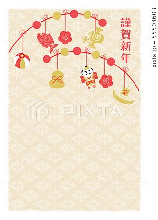 年賀紅白金餅花 55508603