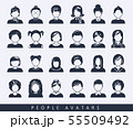 Simple avatar icons 55509492