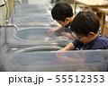 石を削る子供たち 55512353