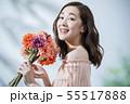 女性 保湿 花束の写真 55517888
