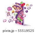 Vector online mobile casino app concept 55519525
