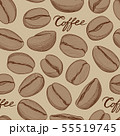 Coffee tile pattern. Coffee beans cafe background 55519745