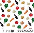 水彩の野菜の模様 55520028
