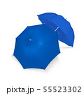 Vector 3d Realistic Render Blue Blank Umbrella Icon Set Closeup Isolated on White Background. Design 55523302