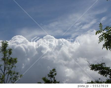 梅雨明けの青空と白い雲 55527619