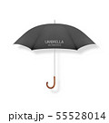 Vector 3d Realistic Render Black Blank Umbrella Icon Closeup Isolated on White Background. Design 55528014