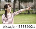 女性 公園 55539021