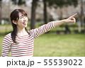 女性 公園 55539022