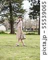 女性 公園 55539065