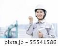 女性作業員 現場監督 作業服 55541586