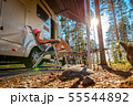 Family vacation travel RV, holiday trip in 55544892
