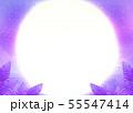 満天の星空と満月、サンセットの海 55547414